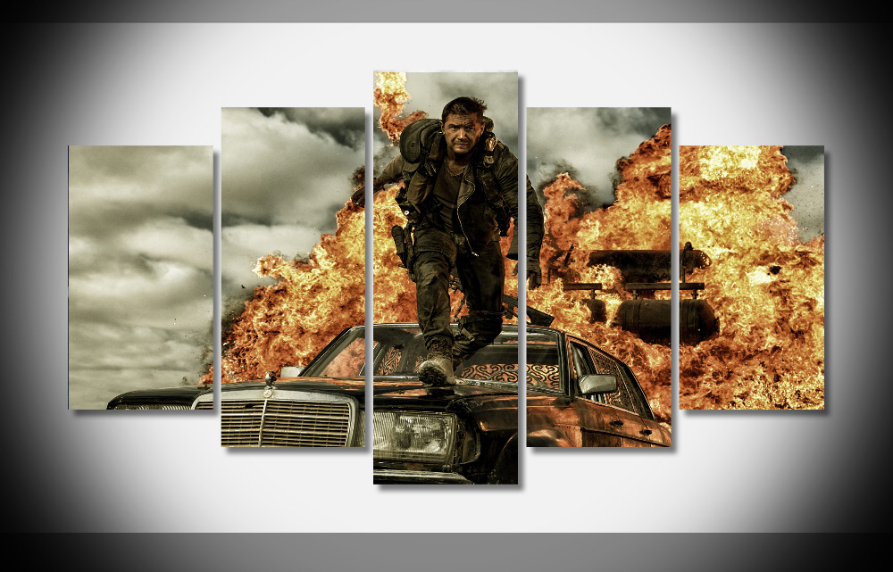 5426 mad max fury road movie poster Poster Framed Gallery wrap art print home wall decor wall picture Already to hang digital