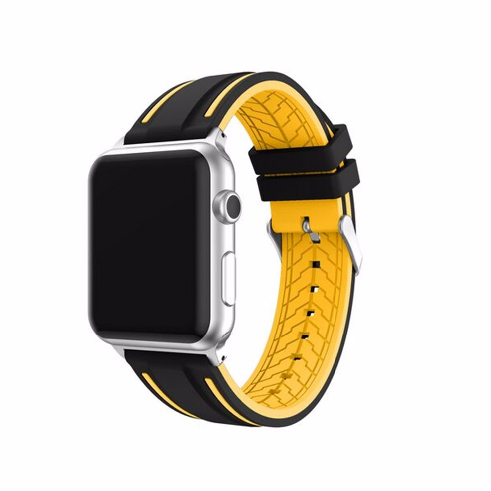 colorful sport Silicone strap For apple Watch band 42mm 38mm Bracelet WatchBand for apple watch iwatch 3/2/1 rubber wrist band crested new arrival colorful silicone strap for iwatch 1 2 apple watch nike 42mm rubber sport bracelet wrist band with adapter