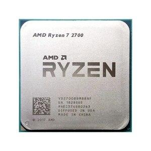 AMD Ryzen 7 2700 R7 2700 3.2GHz Eight-Core 16M 65W Processor YD2700BBM88AF Socket AM4 scattered pieces cpu no fan