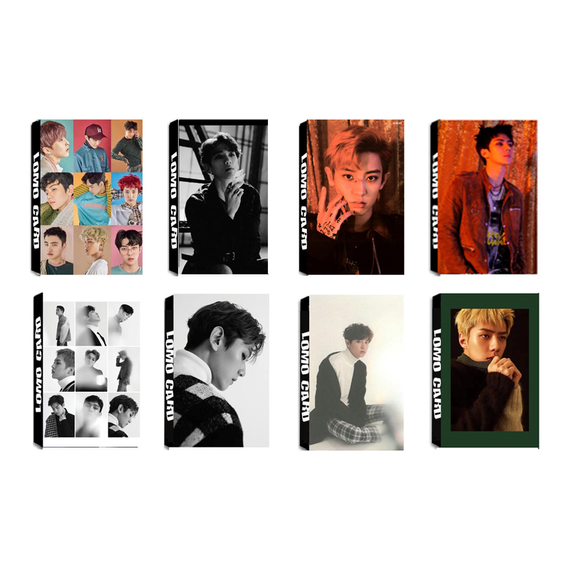 Youpop KPOP EXO EXACT LOTTO Album LOMO Cards K-POP New Fashion Self Made Paper Photo Card HD Photocard LK404