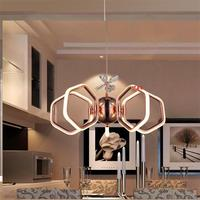 Modern Simple Aluminum Led Ceiling Chandeliers Lustre Acrylic Bedroom Dimmable Led Chandelier Lighting Dining Led Lights