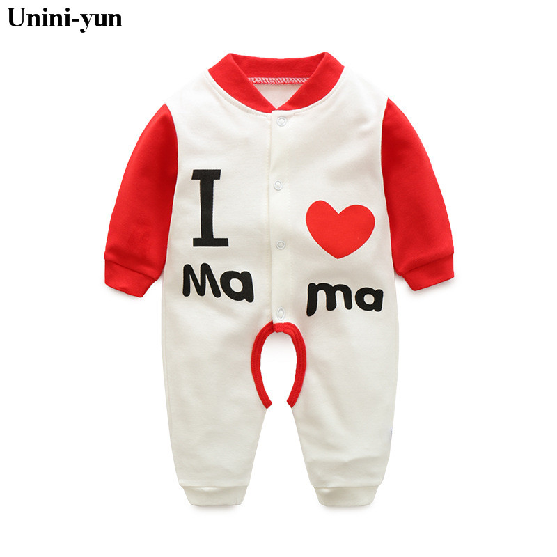 Cartoon Letter Newborn Baby Rompers Spring Long Sleeve Baby Wear Infant Jumpsuit Boy Girl Winter Clothes Roupas De Bebe Infantil summer 2017 navy baby boys rompers infant sailor suit jumpsuit roupas meninos body ropa bebe romper newborn baby boy clothes