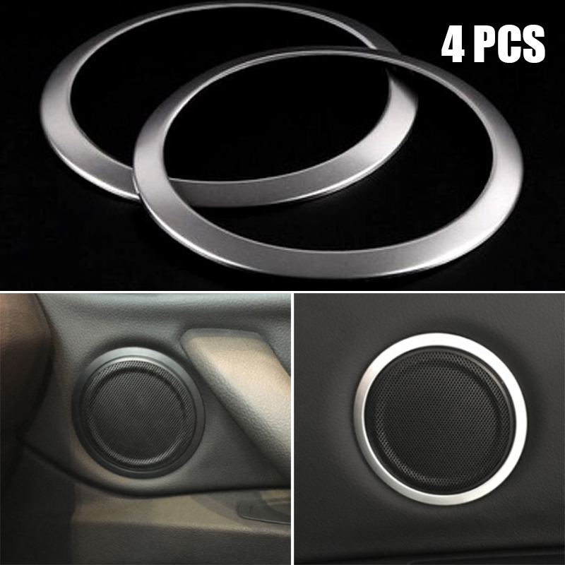 Door For <font><b>BMW</b></font> <font><b>X1</b></font> F48 16-18 Speaker Ring Cover Interior Front Rear Trim Frame Decor 4pcs Replacement <font><b>Accessories</b></font> image