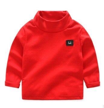 Hing quality Winter Autumn boy girl brand turtleneck sweatshirts high-necked fashion Cotton Bottoming shirt toddler kid clothing