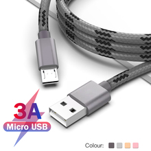 Arvin Micro USB Cable 3A Fast Charging Charger For Samsung Xiaomi Redmi Note 5 Pro 7 Cord Nylon Phone Data 1m 2m