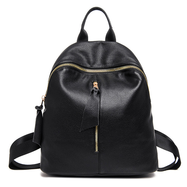 Chu JJ Women s Genuine Leather Backpacks Women Girls Students School Bag  Shoulder Bags Women Casual Back Packs Travel Bag 237782d4d493d