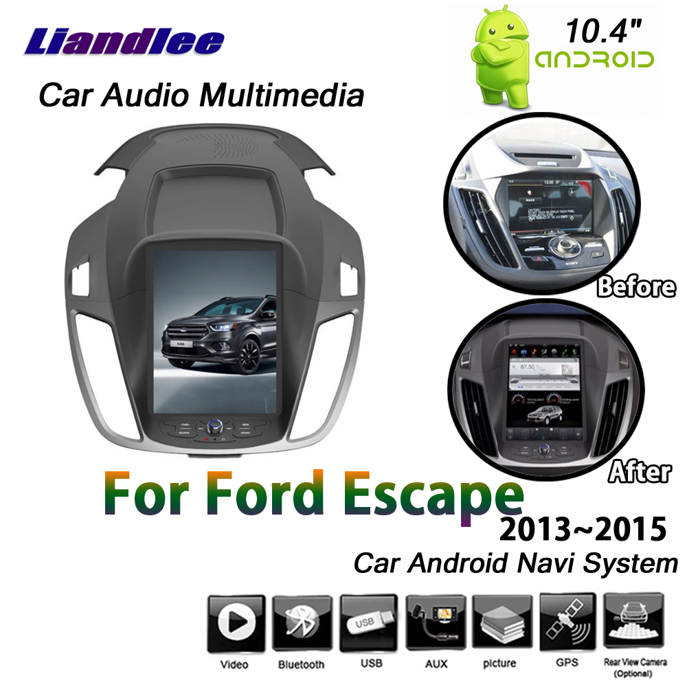 Liandlee Android System For Ford Escape 2013 2015 Car Vertical Screen Mirror link Wifi Map GPS