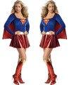 Trajes de super-heróis Cosplay Superwomen Partido Do Disfarce Fancy Dress Sexy Halloween Manga Comprida Night Club Terno Para Adultos