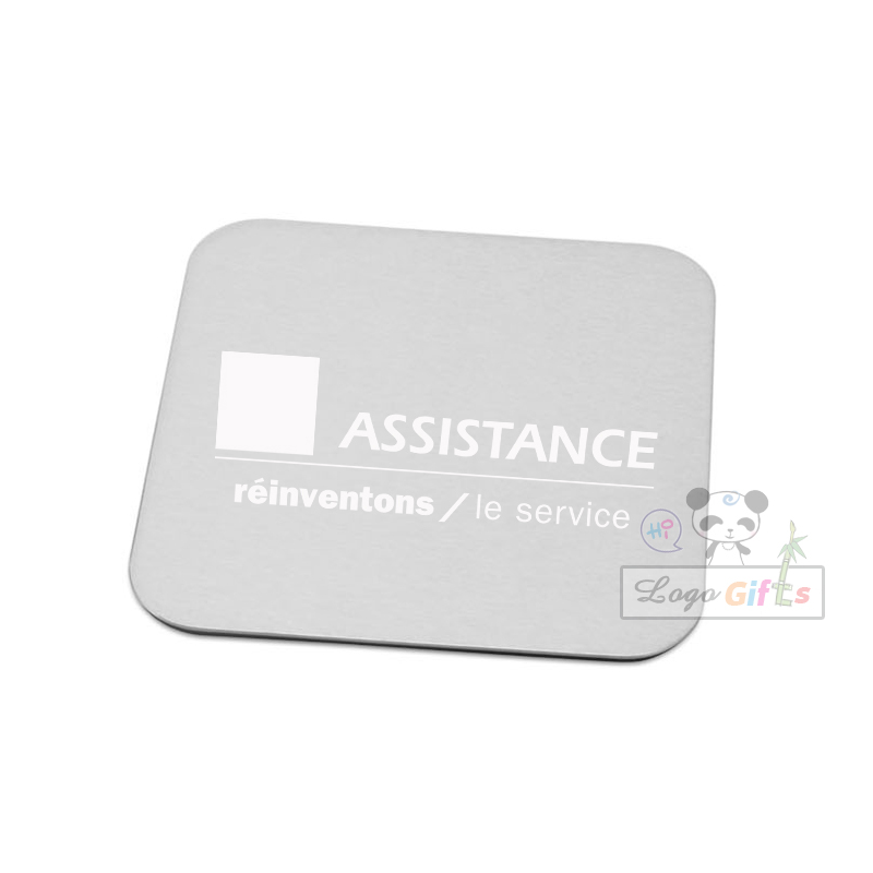 Personalized aluminum bar coaster custom FREE with your bar logo/telephone/address  50pcs a lot special for coffee mug cups