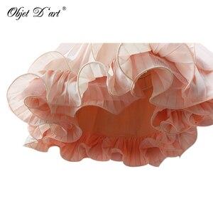 Image 5 - Design da marca feminina vestidos de festa elegante casual vintage damasco manga curta renda plissado babados chiffon vestido para o casamento