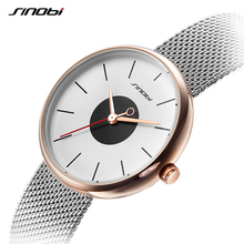 SINBOI Brand Luxury Ultrathin Women Watches 2017 Creative Mesh Strap Sliver Quartz Watch Women Casual Wristwatches Montre Femme