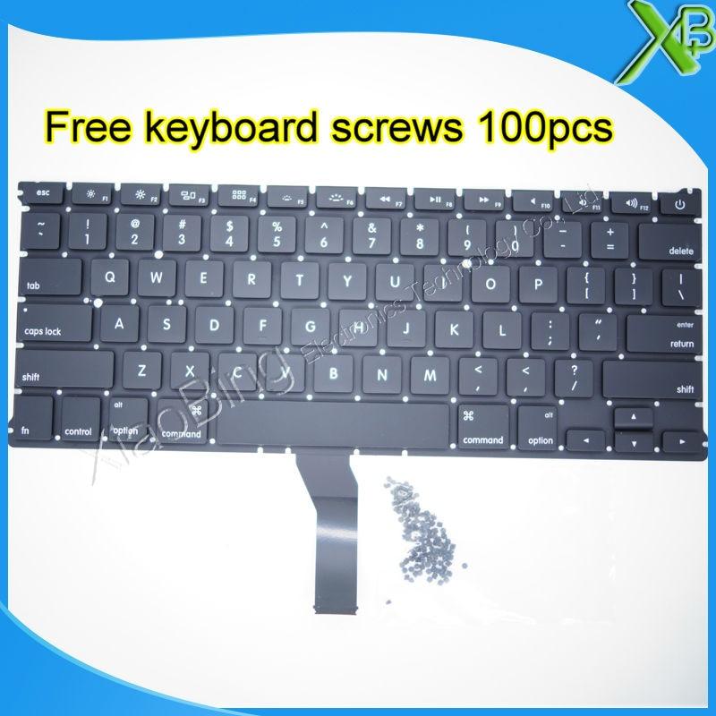 Brand New For MacBook Air 13 3 A1369 A1466 US keyboard 100pcs keyboard screws 2010 2015