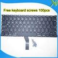 "Brand New For MacBook Air 13.3"" A1369 A1466 US keyboard+100pcs keyboard screws 2010-2015 Years"