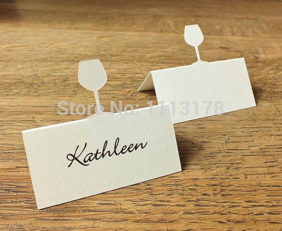 Personalized Place Cards Table Dinner Party Ivory White Wedding