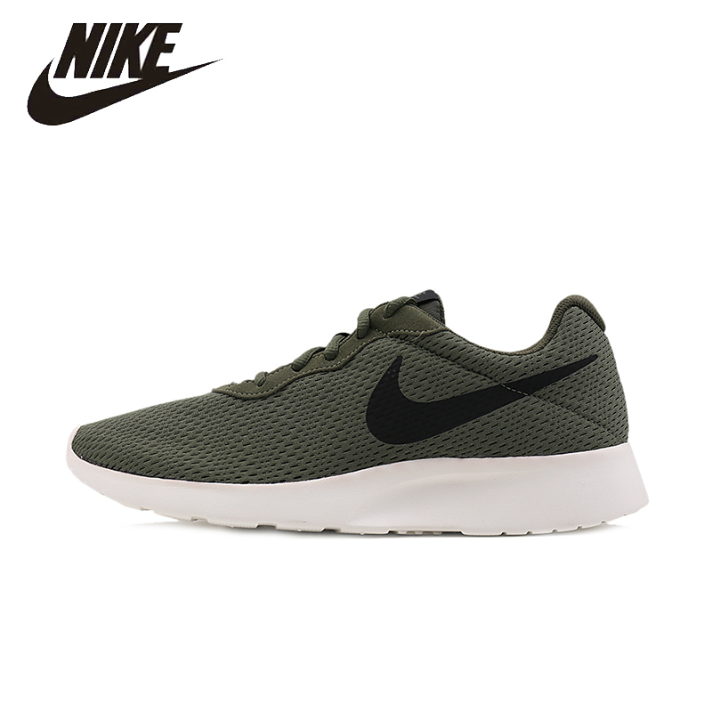 NIKE Original Mens Tanjun Running Shoes Mesh Breathable Lightweight Quick Dry  Outdoor Sneakers For Men Shoes#844887 812654 peak sport men outdoor bas basketball shoes medium cut breathable comfortable revolve tech sneakers athletic training boots