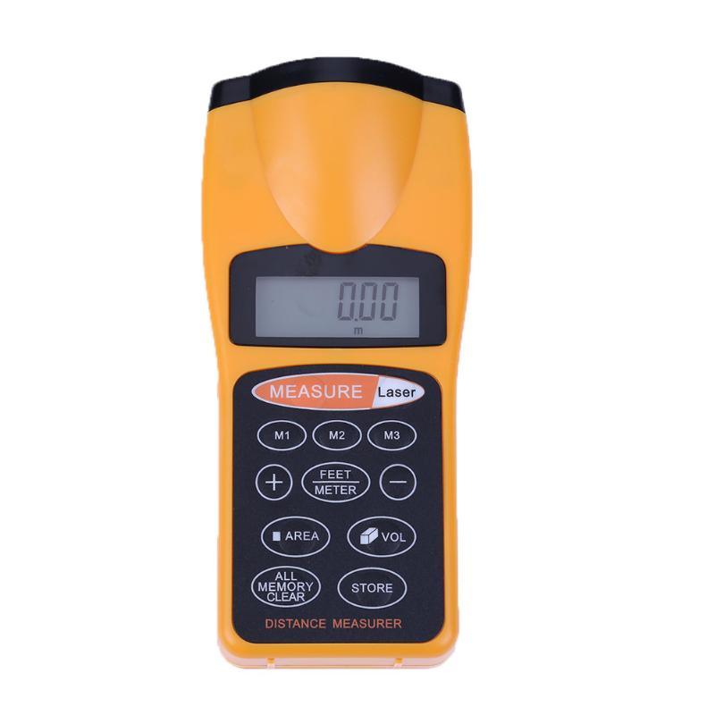 Handheld Multifunctional LCD Backlight Display CP-3007 Laser Ultra Sonic Distance Measurement Range Finder Pythagorean Mode New