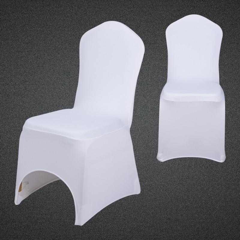 €5.75 10% de DESCUENTO 1 piezas de fundas para sillas de comedor blancas y  negras, fundas para sillas de boda de Hotel y banquetes de LICRA para venta  ...