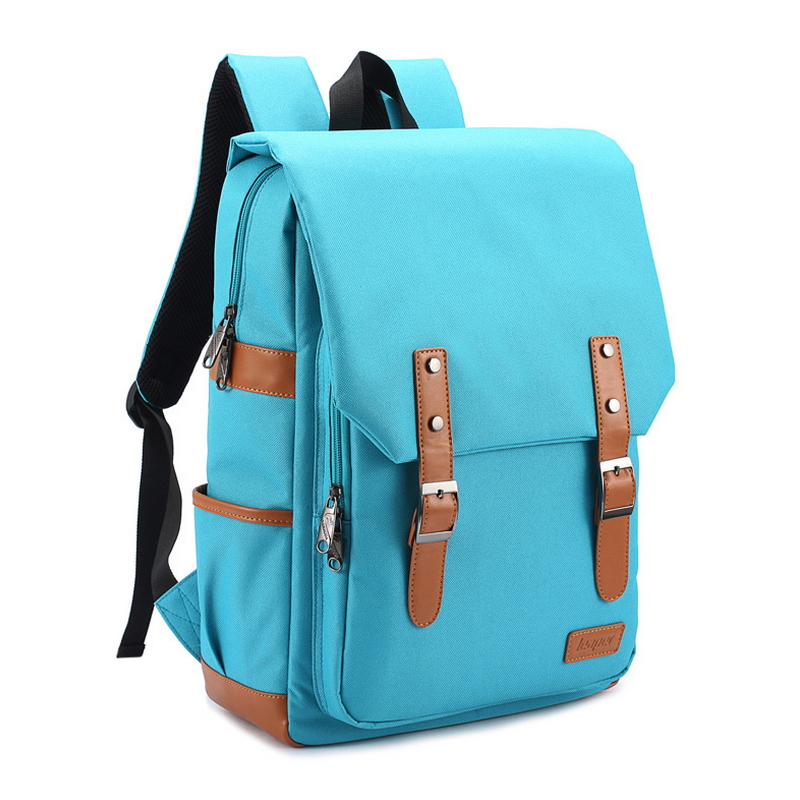 ФОТО Free shipping 2016 new Preppy Style solid Canvas high school bags for girls Color are sky blue and green Randoseru