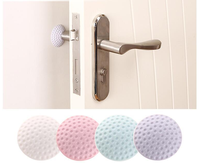 4 Colors Wall Thickening Mute Golf Modelling Rubber Fender The Handle Door Stoper Lock Protective Pad Wall Stickers wallpaper