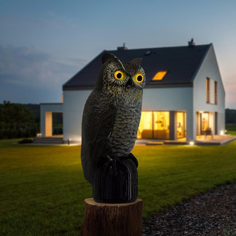 Solar Powered Scarecrow Owl - Үлкен Realistic Owl - - Бақша өнімдері - фото 3