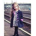 Европейский Осень Детей Куртки Девушки Мода Манто Fille Enfant Симпатичные Dot Casaco Menina Весна Девушки Пальто И Куртки