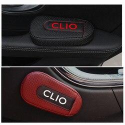 Мягкая кожа подушка для ног наколенники подлокотник аксессуары для салона автомобиля для Renault Clio