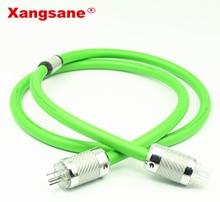 Xangsane P-6008Ag Hifi Speaker IEC Audio silver Power Cable Rhodium Plating Connector US Power Plug 1.5m-2m Hi-End 250V 2pcs transparent rhodium au mains power plug male copper connector cable cord 3 pin hifi