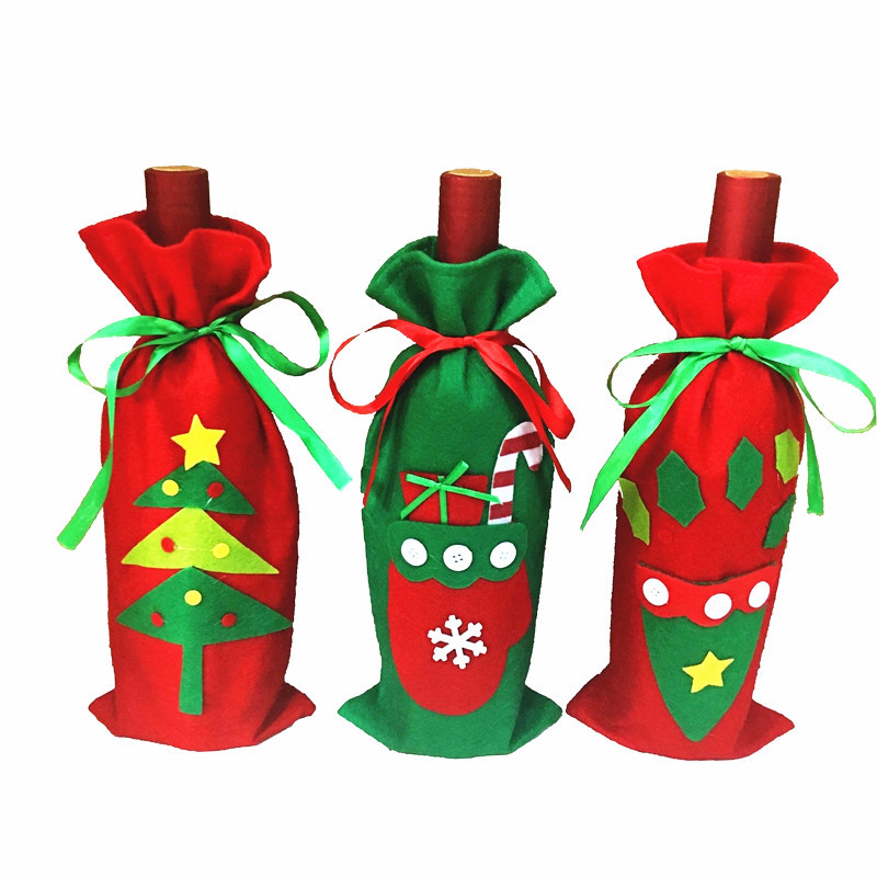 2017 Hot Christmas Red Festive Decorations New Bottle Sets