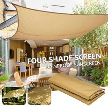 Awning Shade Screen Waterproof Tent Cloth Square 190T Polyester Portable Canopy Gazebo Practical Travel Garden