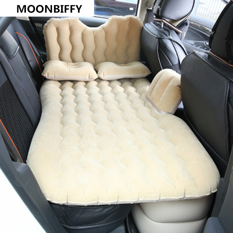 Flocking car bed Automotive interior supplies car travel bed Inflatable bed Car travel mattress Double turn