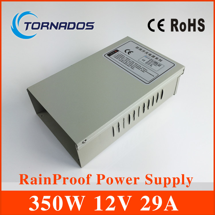 350W 12V 29A Single Output Rainproof Switching power supply for LED Strip light AC to DC LED Driver FY-350-12 20pcs 350w 12v 29a power supply 12v 29a 350w ac dc 100 240v s 350 12 dc12v