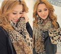 2015 New Women Lady Leopard Soft Chiffon Scarf Shawl Neck Wrap Stole Scarves