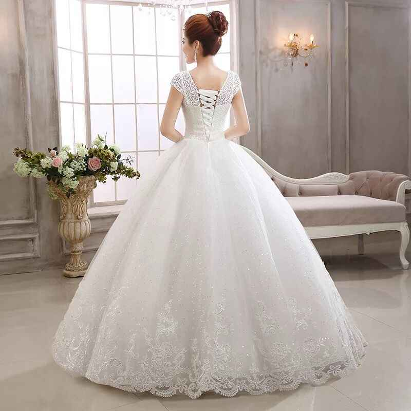 4be57057e ... Высокое качество сладкий бежевый Пол Длина кружево платье для свадьбы  2019 бусины принцесса банкет Свадебные платья