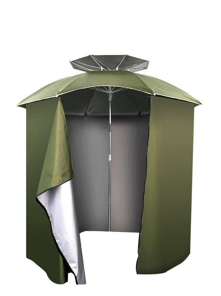 Открытый 2 м застежка складной Анти-УФ Универсальный рыболовный Зонт навес непромокаемый солнцезащитный укрытие Пляжная палатка камуфляж ...