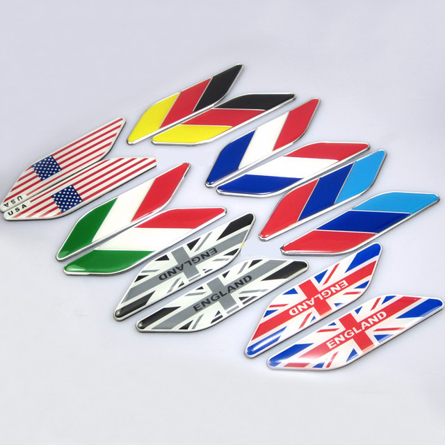 Pair Aluminum UK USA America Canada Germany France Australia - Window stickers for cars canada