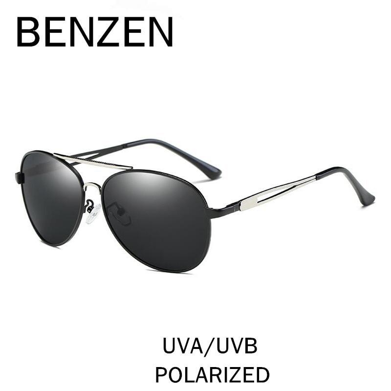 081f0346d6bb9 BENZEN Polarized Óculos Homem Marca Designer Piloto Masculino Motorista  Dirigindo Óculos de Sol UV Shades Preto Com Caixa 9230 em Óculos de sol de  ...