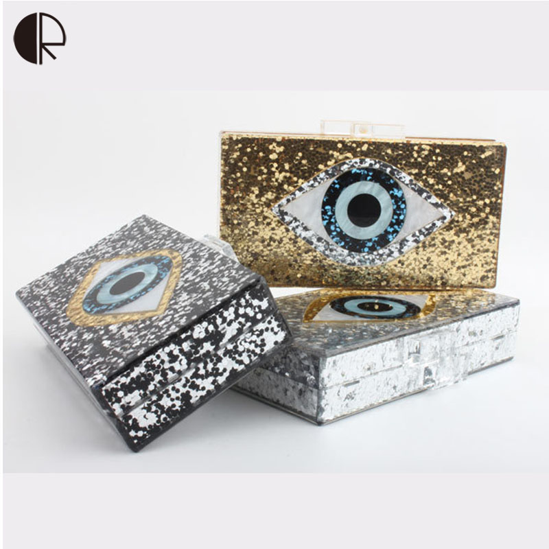 Sequin Everning Clutch bag for Party Acrylics Flap Bag with Metal China Women Clutch Bling Eye Crossbody Bag Sequin Bag clear wood handle bag with sequin pouch