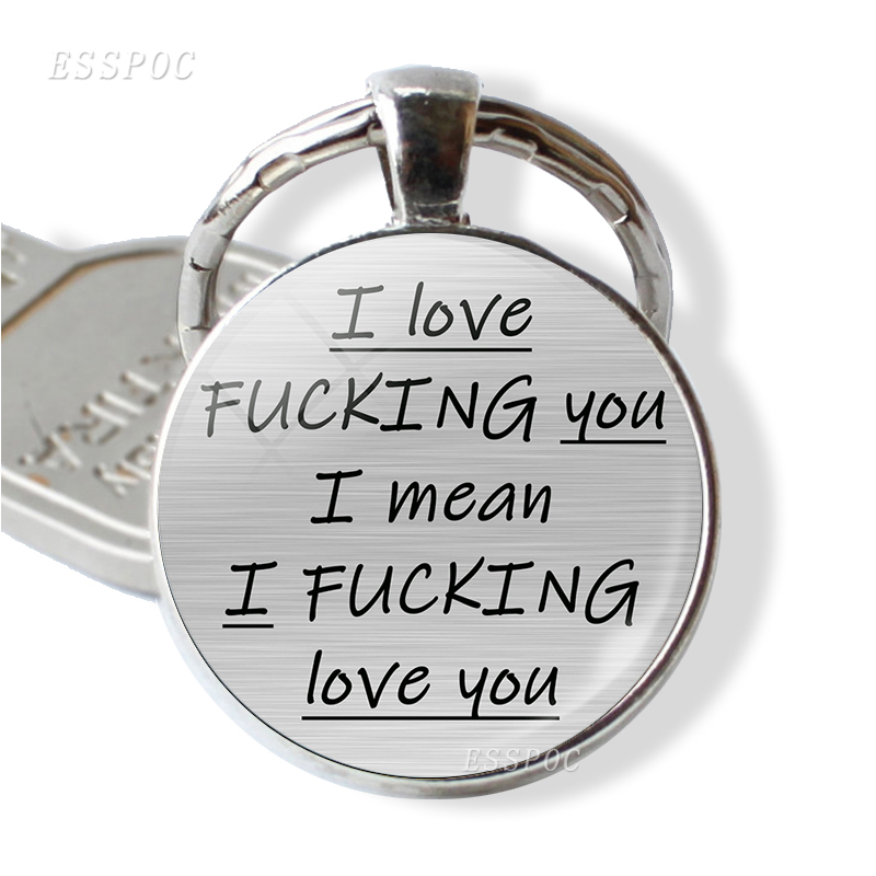 Romantic Letter Key Chain You're My Favorite Asshole Couples Love Quote Keychain Girlfriend Boyfriend Keyring Valentines Gifts image
