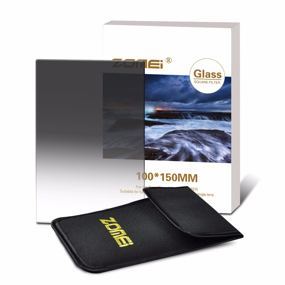 Zomei 100 Square Filter Graduated GND2 / 4 / 8 광학 유리 Soft GND 0.3 0.6 0.9 Cokin Z-Pro 용 리 하이텍 100x150 용 필터
