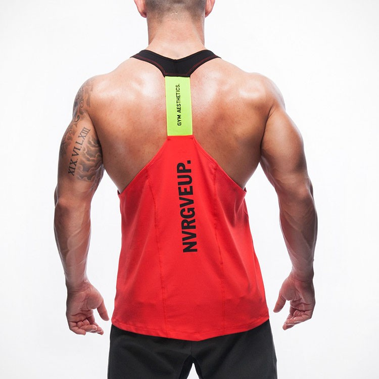 Gym Tank Top Men Undershirt Sports Wear GymShark Singlet Bodybuilding Men\'s Fitness Training Quick-drying Vest Sleeveless Shirt (4)