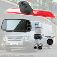 7 Mirror Monitor Brake lights Camera Rear view system kit for Ford Transit 2014~2015