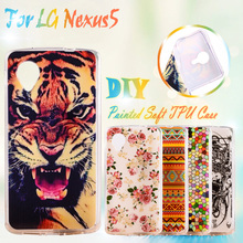Painted Soft Silicone Mobile Phone Cases For LG Google Nexus 5 E980 D820 Nexus5 D821 Case Cover Shell Rubber TPU Cell Phone Case