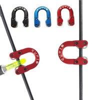 Alumínio D Loop Liberação arco Composto Arco Corda Nock Nock D Loop Anel D U Corda de Liberação de Segurança 3 cores