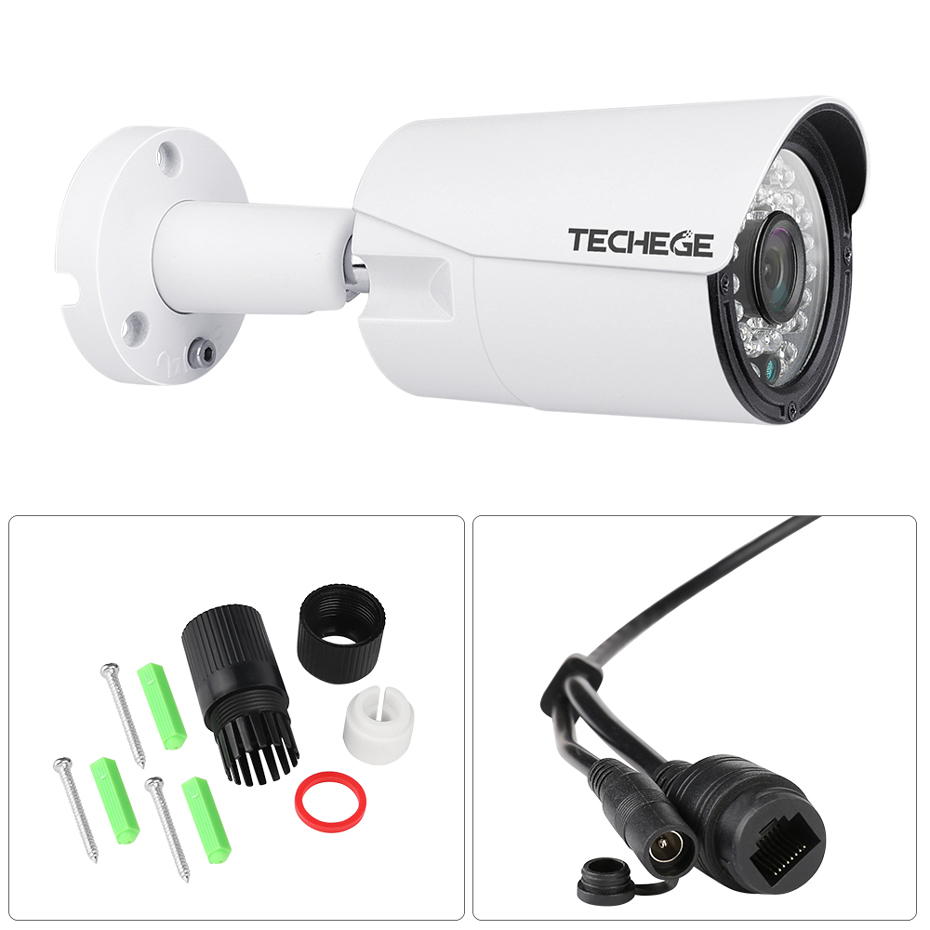 Image 2 - Techege 8CH 1080P POE NVR kit 2MP 3000TVL PoE IP Camera P2P Audio CCTV System IR Outdoor Night Vision Video Surveillance Kit-in Surveillance System from Security & Protection