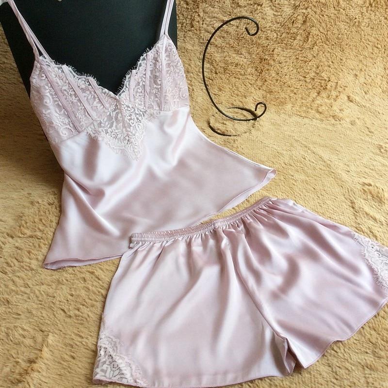 VLENATLNO Lace Pajamas Set Homewear Indoor Clothing Lady lovely Cute f2b4c6683