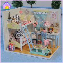 1Pcs DIY LOL dolls with bedroom and Furniture Chair Bed table window house toys and so on Original LOL dolls gifts fir Kids(China)