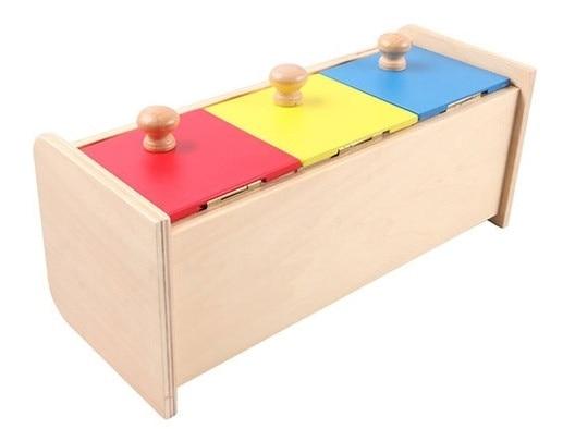 Novos Brinquedos Do Bebê De Madeira Montessori Colorido gaveta caixa de Presentes Do Bebê de Treinamento Aprendizagem Preschool Educacional