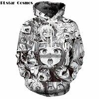 PLstar Cosmos Anime Ahegao Sweatshirt Men Women Fashion Autumn Winter Hip Hop Streetwear Hoodies Dropship