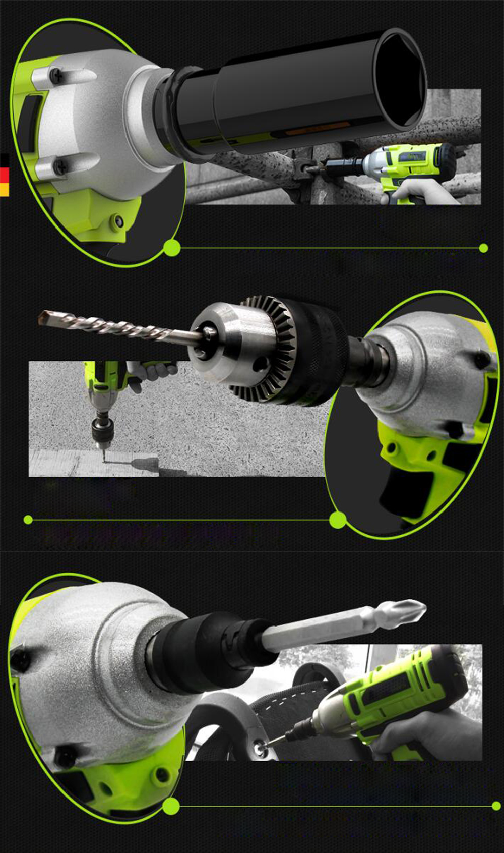 Beste Multitool Machine Petpig 168tv 19800mah New Impact Drill Brushless Electric Wrench Lithium Battery Charging Wrench Impact Car Scaffolding Sleeve