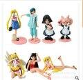 7 pçs/set Sailor Moon Tsukino Usagi brinquedos figuras de ação PVC coleção de brinquedos ToyO00175